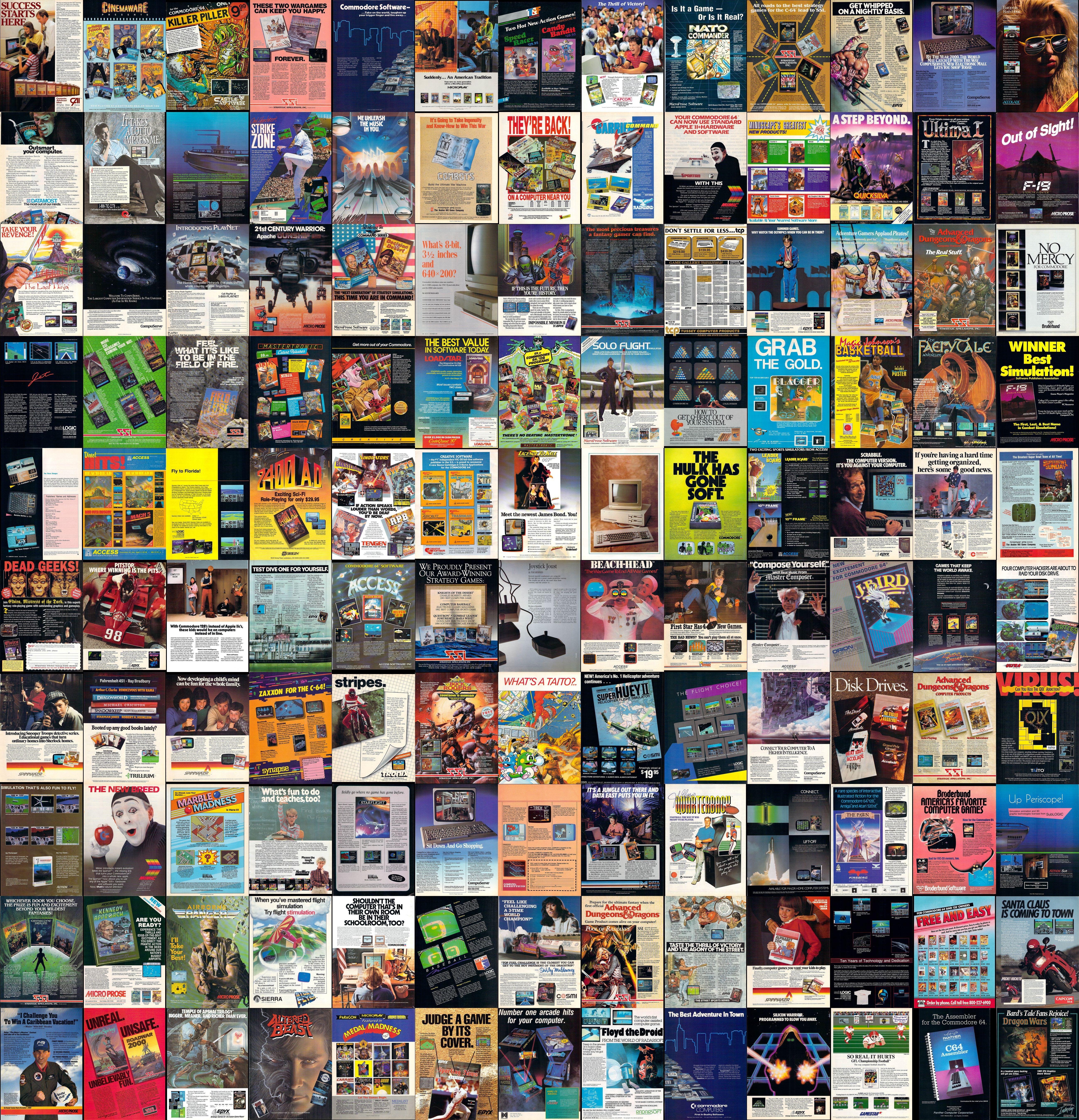 commodore 64 game ads wallpaper image Wallpaper